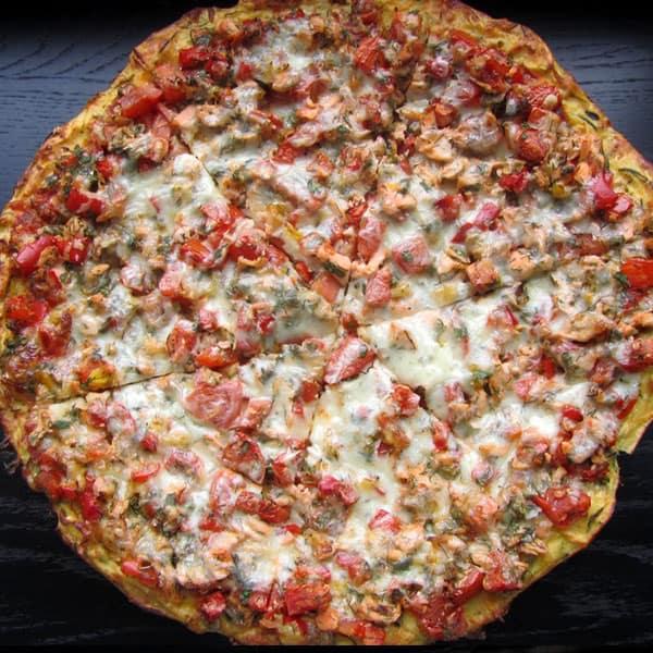 Pica ar lasi un dārzeņiem