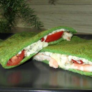 Spinātu omlete ar garnelēm