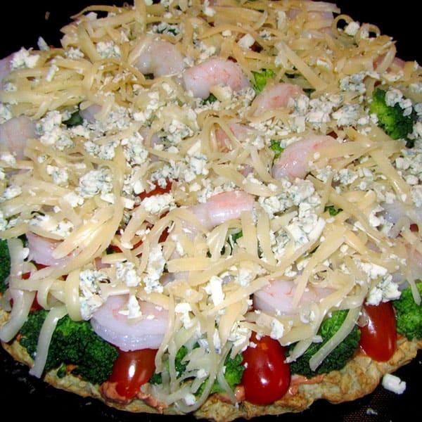 Pica ar garnelēm