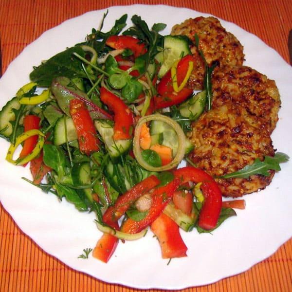 Vistas filejas, brokoļu un rīsu kotletes