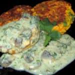 Ķirbju – siera plācenīši ar zaļumiem