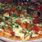 Pica ar vistas fileju, sēnēm un dārzeņiem bez miltiem un olām