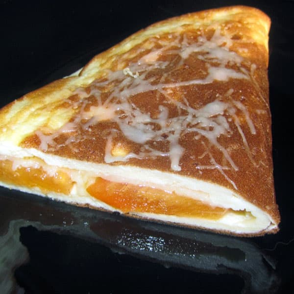 Omlete ar hurmu un sieru
