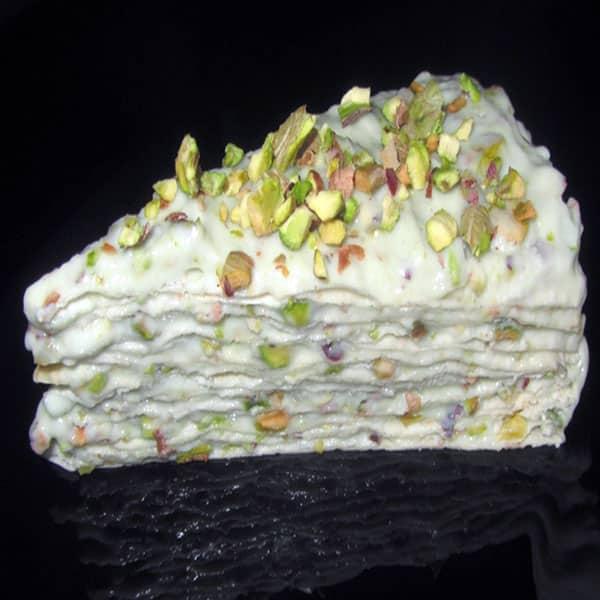 Pistāciju krēma lavaša torte ar proteīnu