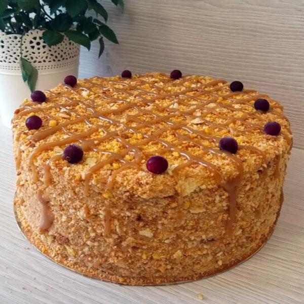 Torte Biezpiena Napoleons