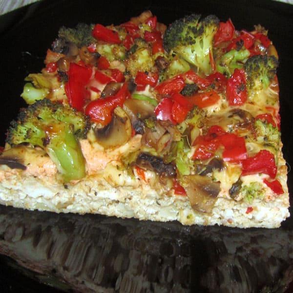 Vistas filejas – dārzeņu- šampinjonu pica - pīrāgs