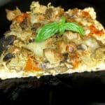 Pica ar sēnēm un dārzeņiem