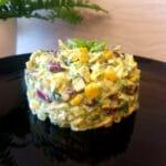 Pupiņu salāti ar kūpinātu vistas fileju
