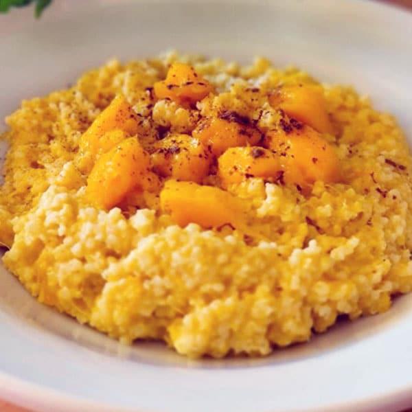 Prosas biezputra ar mango